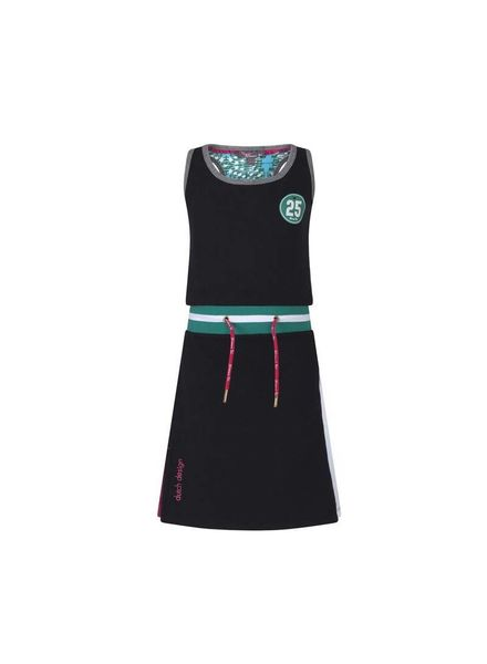 Dress NVSS18-13 Dark Grey Katoen Elastan