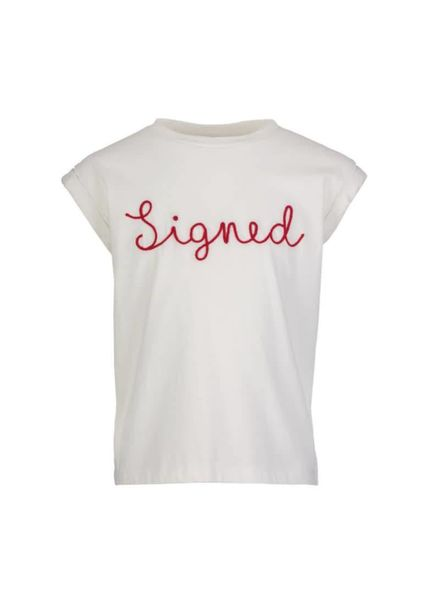 signed top Thelma white Katoen