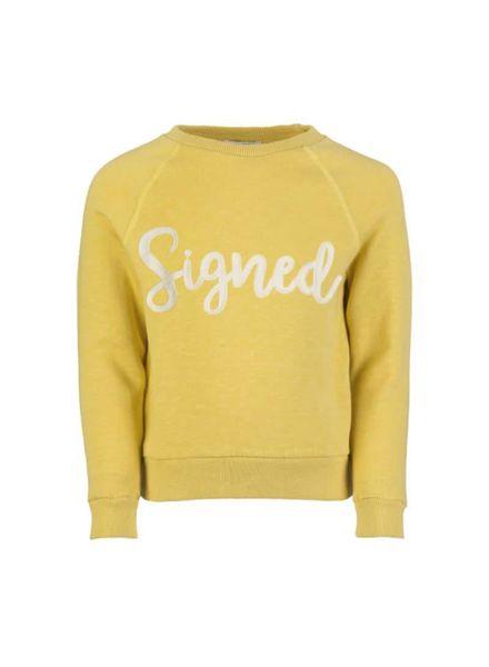 signed sweater Bonne picadilly Katoen