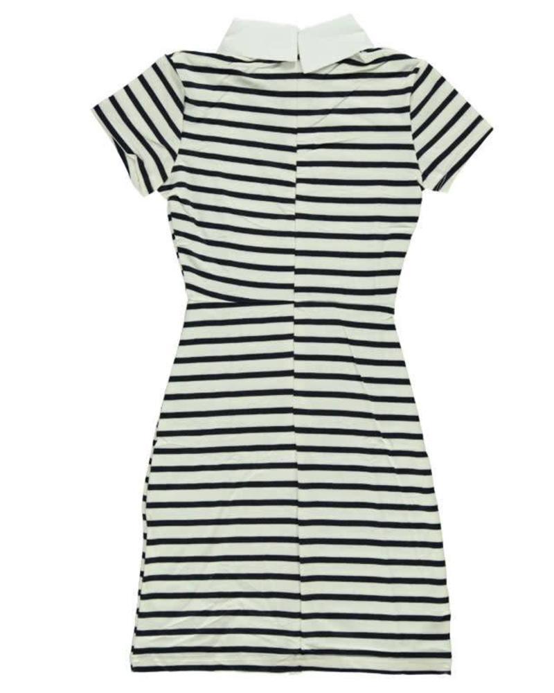 Be a Diva Dress Dune navy-white