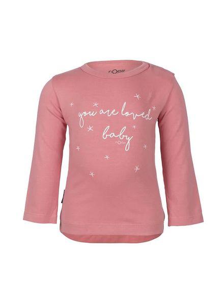 Henny  Longsleeve Loved Pink Katoen Elastan