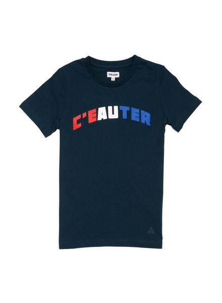 T-shirt C'eauter Navy Katoen