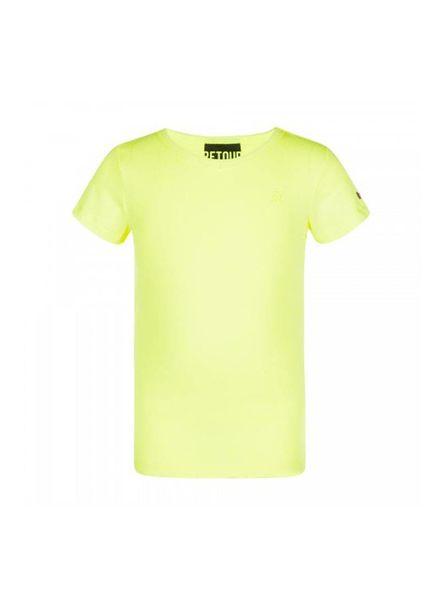 Retour Jeans Retour Jeans T-shirt Sean Neon Yellow Katoen Elastan