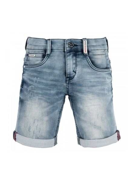 Retour Jeans Jog short Denim Loek Medium Blue Katoen Elastan