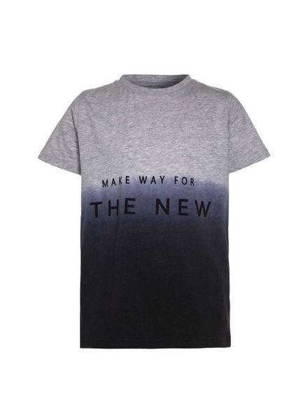The New The New T-shirt Galvin Grey Melange Katoen Elastan