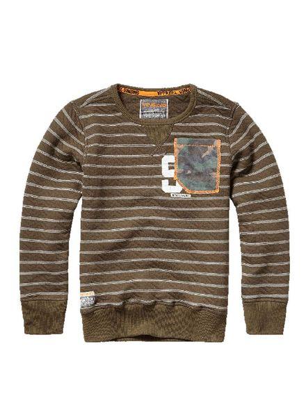 Vingino Sweater Nichel Army Green Wood Katoen