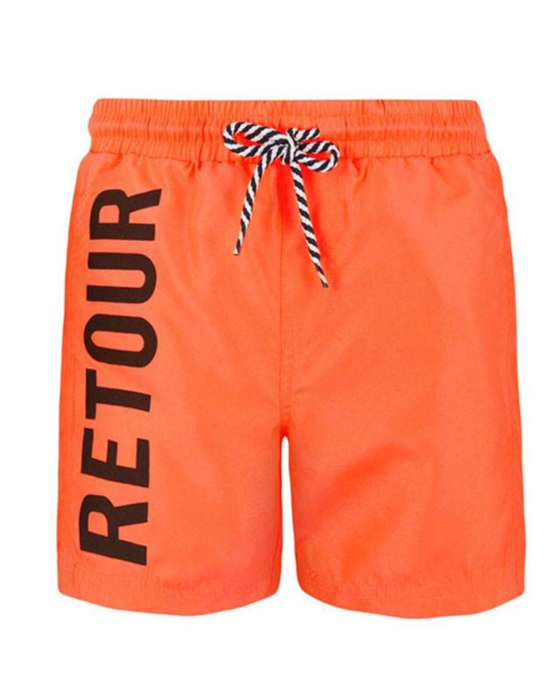 Retour Jeans Retour Jeans Swimshort Kane Neon Oranje Katoen Elastan