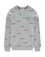 Scotch Shrunk Felix Ams Blauw crew neck sweat AOP 146784 23