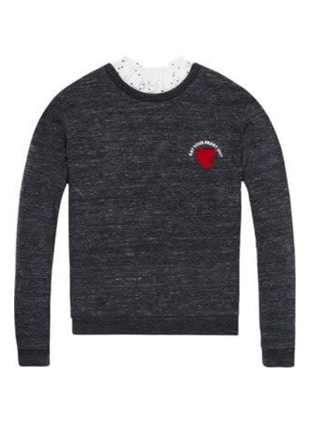 Scotch Rebelle Sweater relaxed AOP woven collar 144436