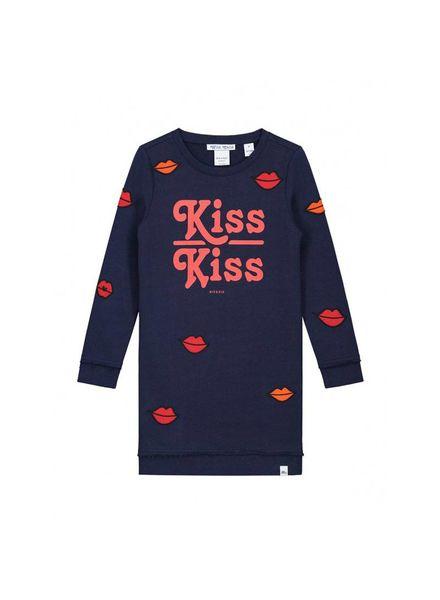 Nik & Nik by Nikkie Babe Kiss Sweatdress Dark Blue G 5-862 1804