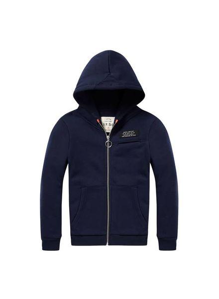 Scotch Shrunk Hooded zip sweater Dark Blue 144348