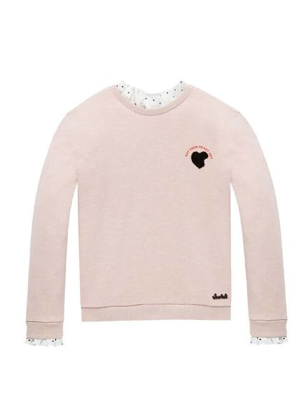 Scotch Rebelle Relaxed sweat allover print roze 147669