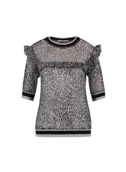 Ai&Ko Blouse Inea Leopard Pa Silver 100 J