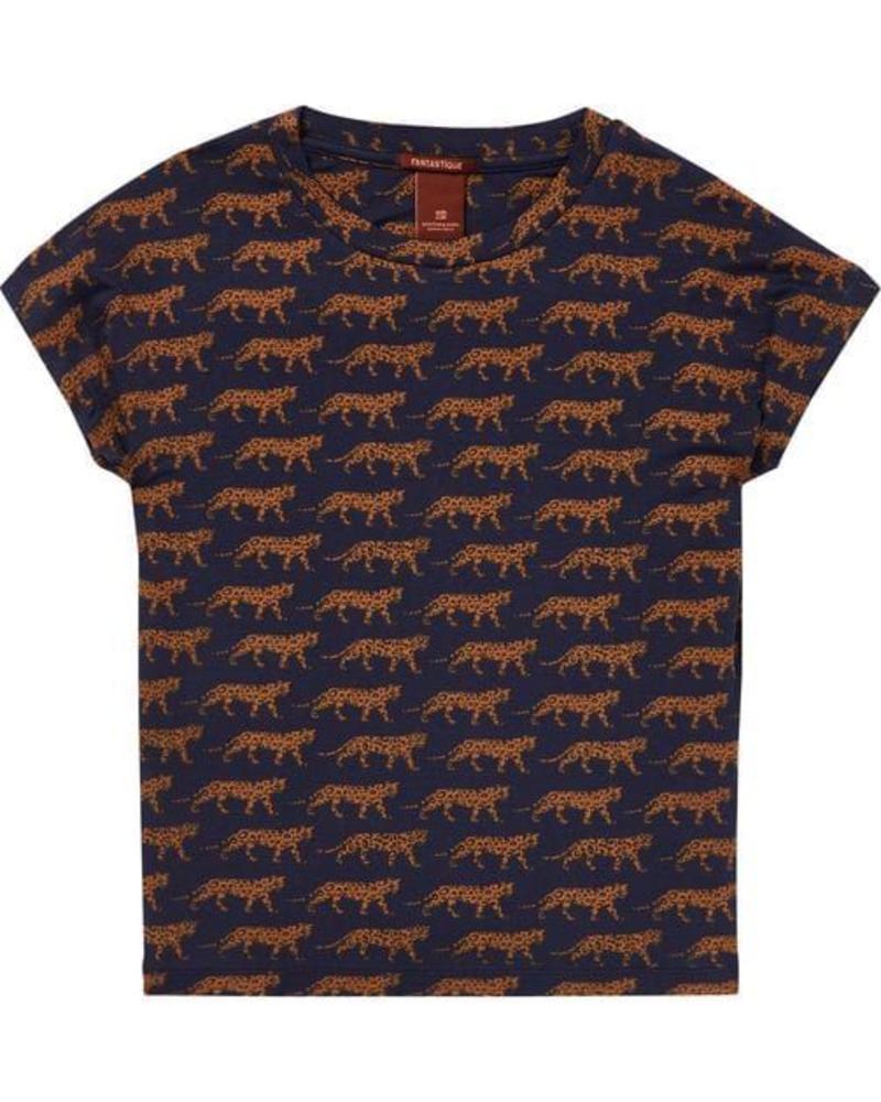 Scotch Rebelle AOP  t-shirt boxy fit 146117