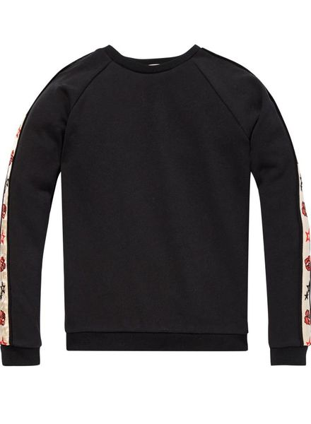 Scotch Rebelle Crewneck Sweater with Tapes 147333