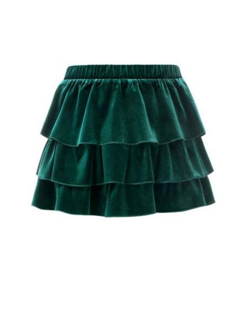 Looxs Revolution Skirt velvet ruffl 831-7724-320