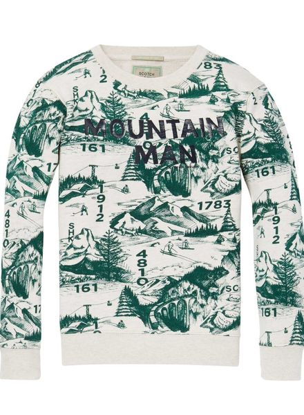 Scotch Shrunk Sweater Allover Printed 145984