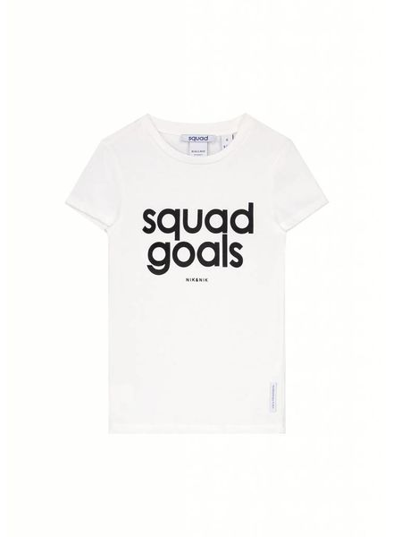 Nik & Nik T-shirt Squad gebroken wit