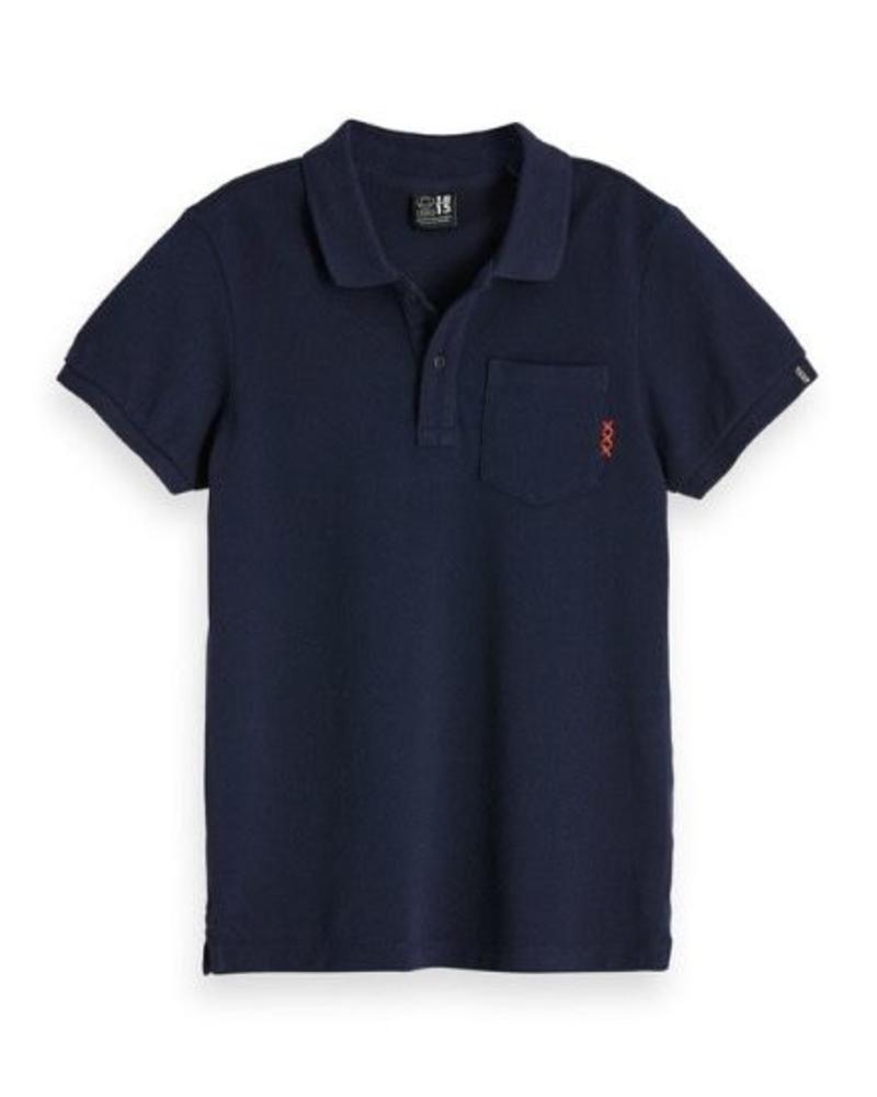 Scotch Shrunk Scotch Shrunk Polo garment dyed