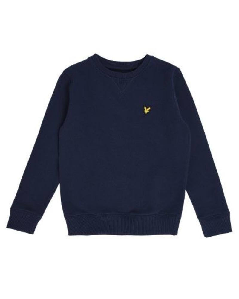 Lyle en Scott Classic Crew Neck Fleece Navy Blazer LSC0016-203