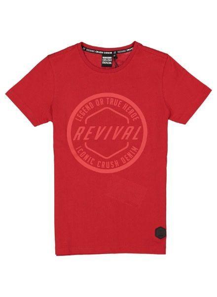 Crush Denim T-shirt Hanson 11911514 rood