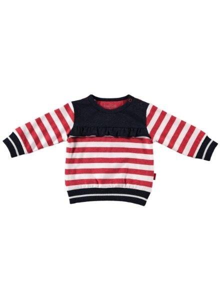 b.e.s.s. Sweater Striped Ruffle 1907-016