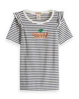 Scotch Rebelle T-shirt Ruffle Details 149547