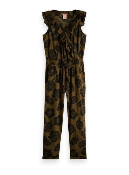 Scotch Rebelle Jumpsuit With Ruffle