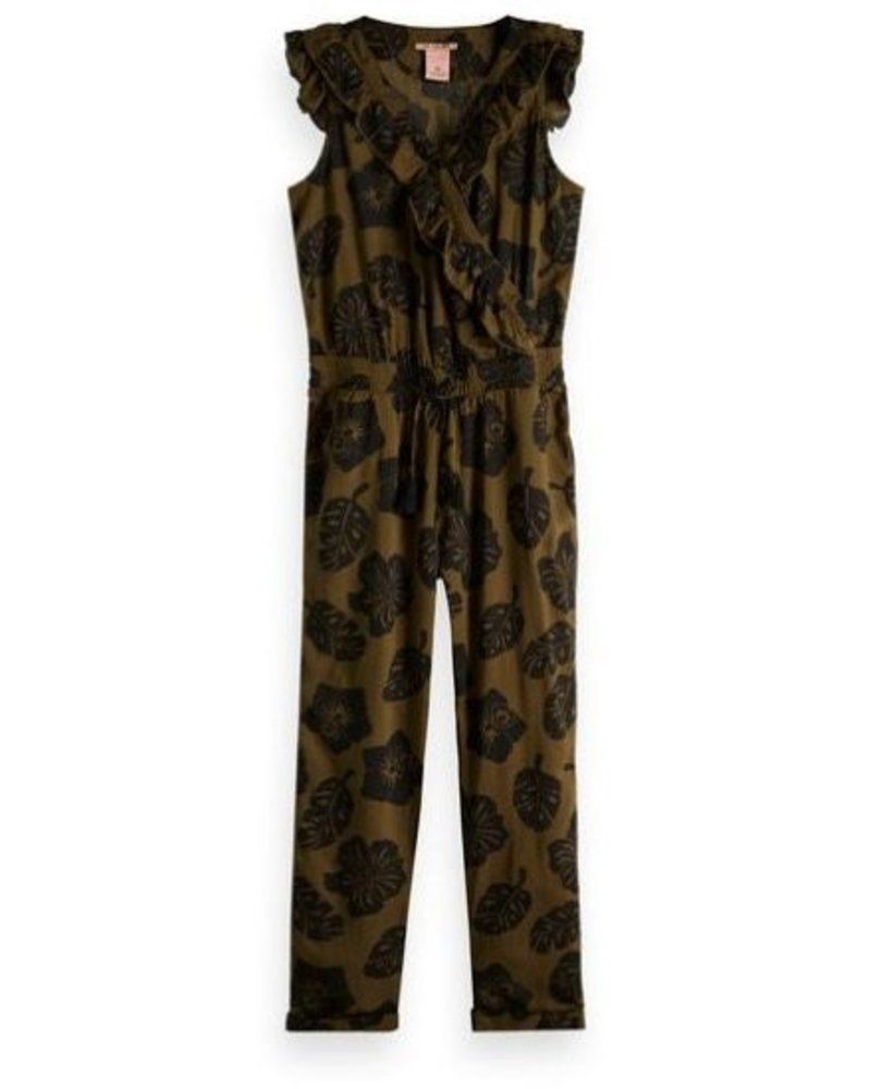 Scotch Rebelle Scotch Rebelle Jumpsuit With Ruffle