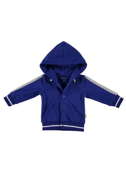 b.e.s.s. Vest Piping 1961-062 blauw