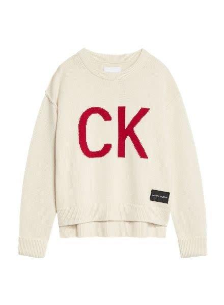 Calvin Klein Sweater CK Logo Intarsia IG00IG00354PGB