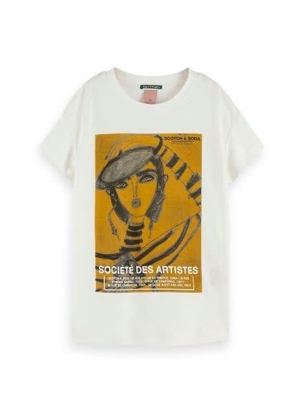 Scotch Rebelle T-shirt oversized artwork 153633