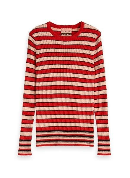 Scotch Rebelle Trui crew neck stripes 151777