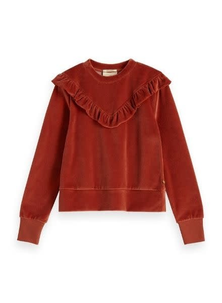 Scotch Rebelle Sweater velvet ruffle 151703