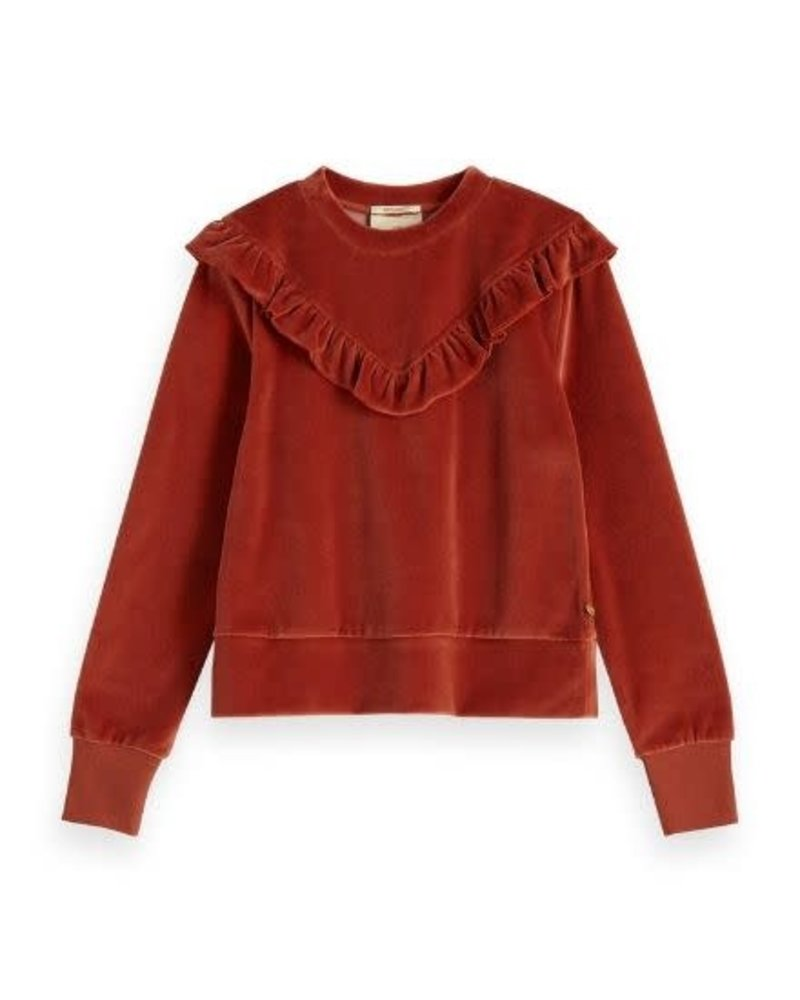 Scotch Rebelle Sweater velvet ruffle 151703