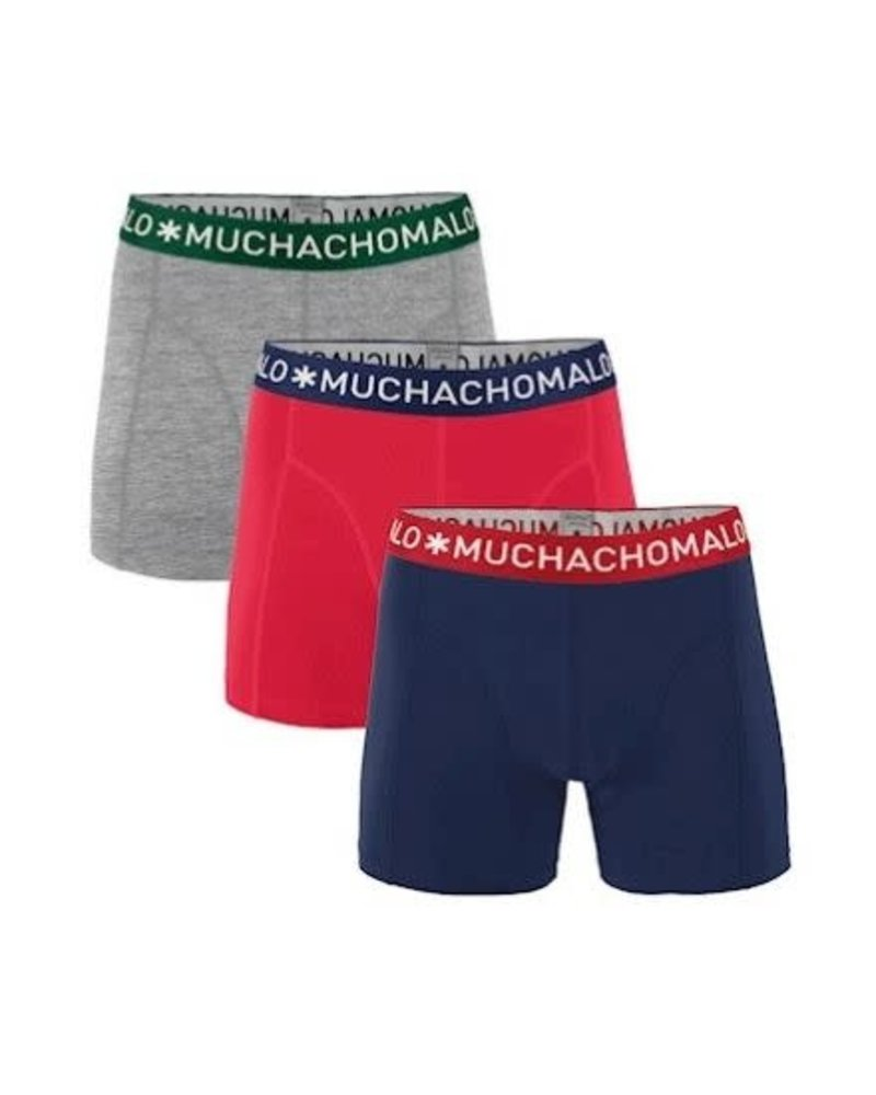 Muchachomalo Short 3-pack Solid1010-281J
