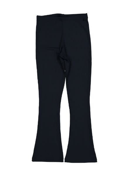 Crush Denim Flared Pants Lilith Navy