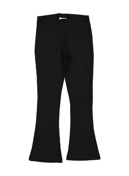 Crush Denim Flared Pants Lilith Black