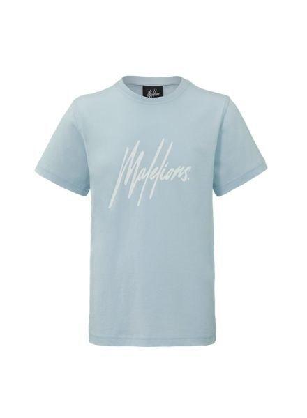 Malelions T-shirt Signature Light Blue