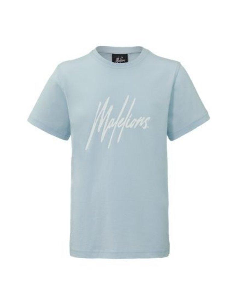 Malelions Malelions T-shirt Signature Light Blue