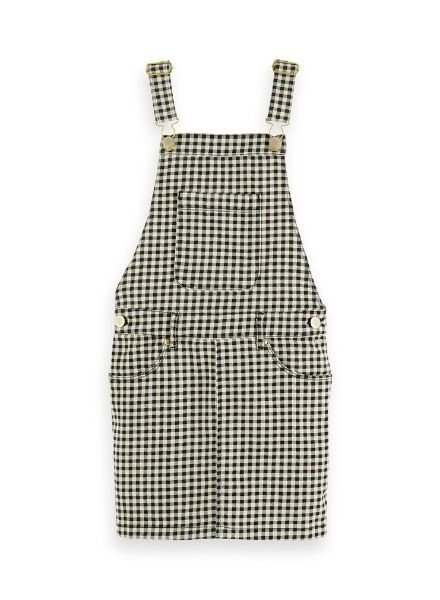 Scotch Rebelle Jurk dungaree AOP check 155762