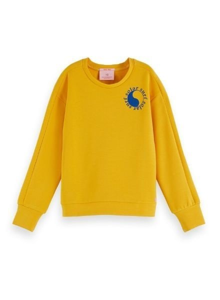 Scotch Rebelle Sweater crew neck with placed artworks 155651