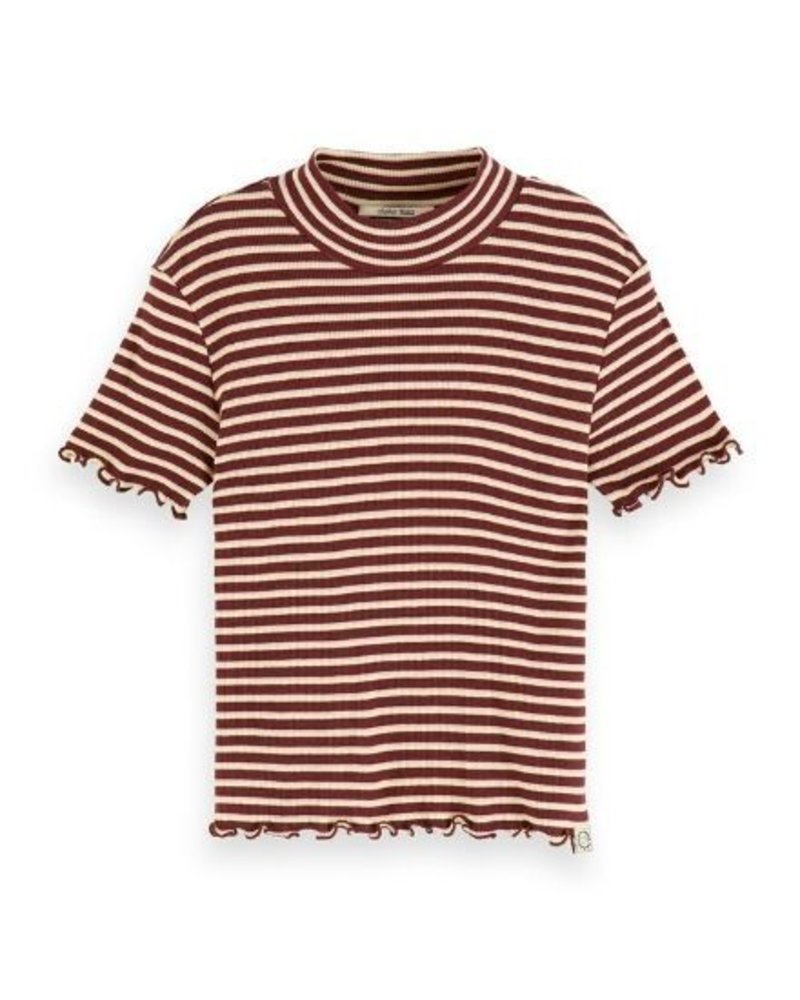 Scotch Rebelle T-shirt fitted with high neck 155672