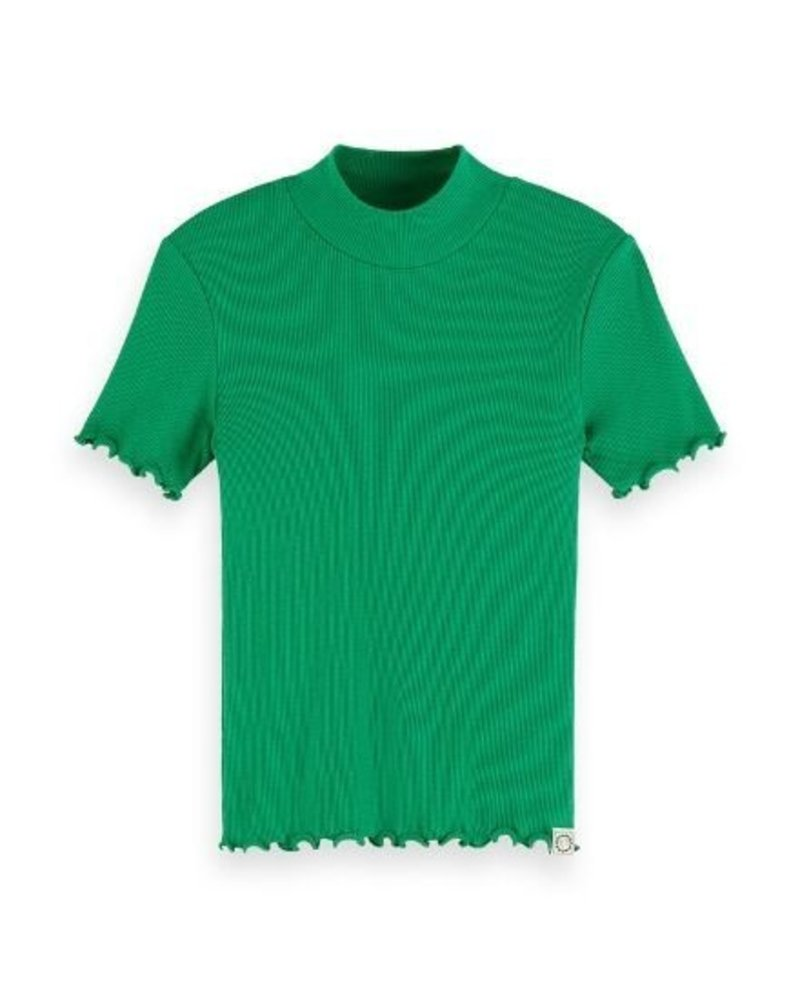Scotch Rebelle T-shirt fitted with high neck 155672 G
