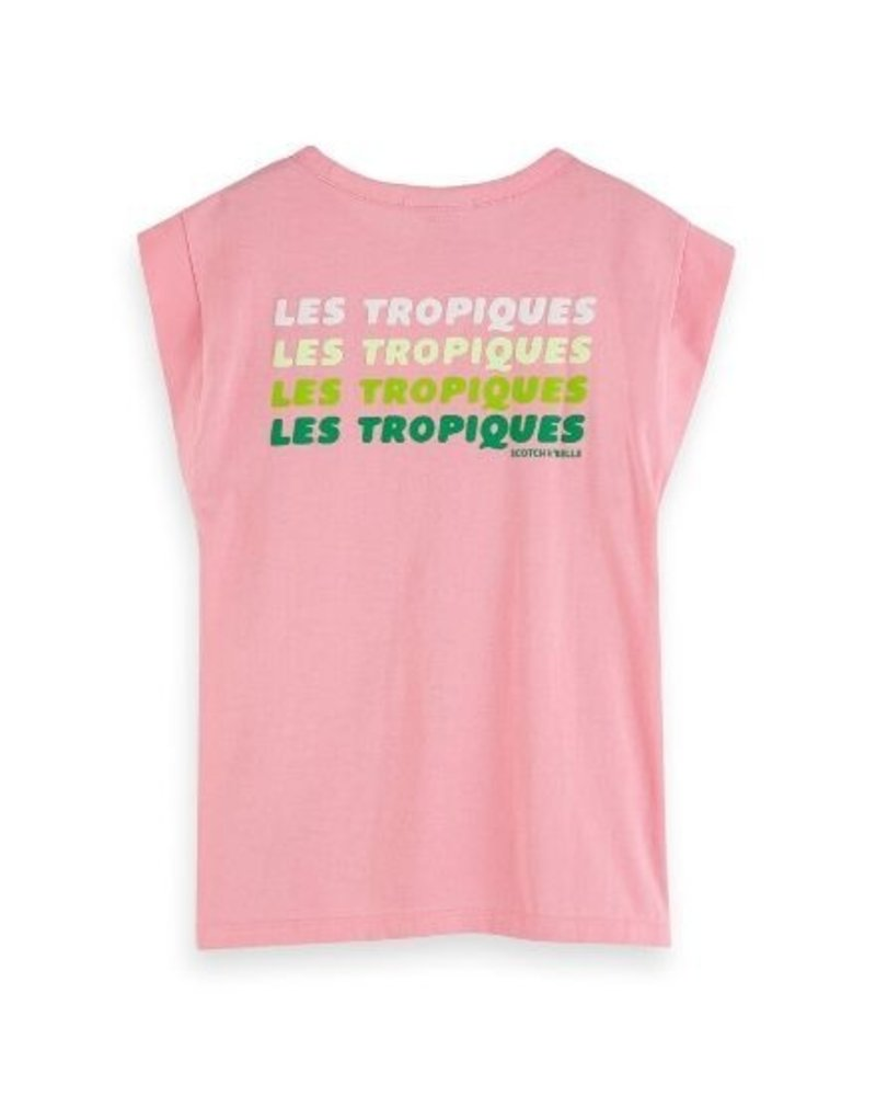 Scotch Rebelle T-shirt boxy with placed artworks 155686