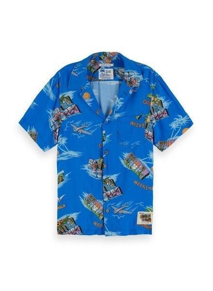 Scotch & Soda Shirt AOP Hawai 154671