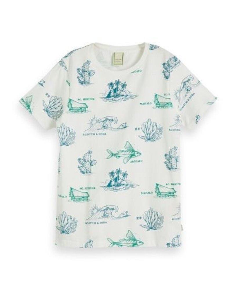 Scotch & Soda T-shirts AOP 154861