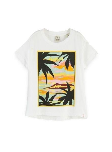 Scotch Rebelle T-shirt relaxed fit Hawaiian print 155678