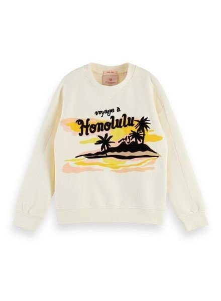 Scotch Rebelle Sweater boxy Hawaiian artwork 155634