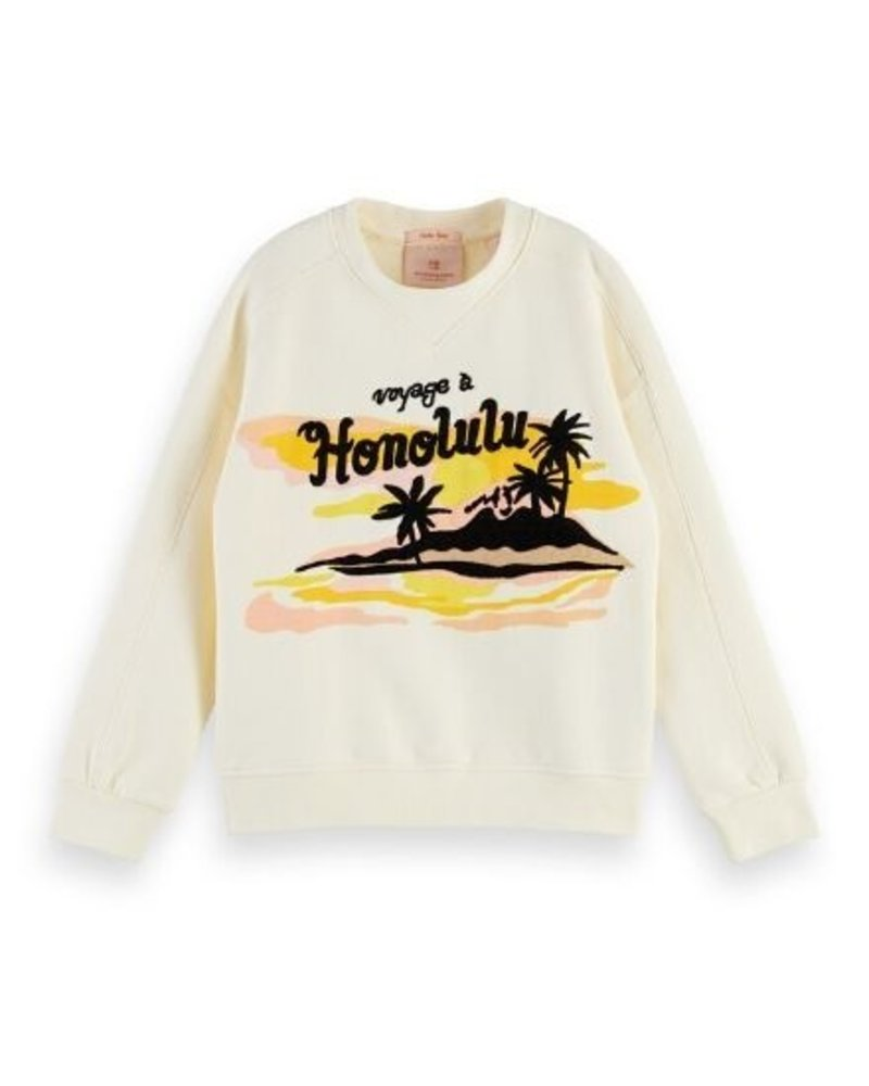 Scotch Rebelle Scotch Rebelle Sweater boxy Hawaiian artwork